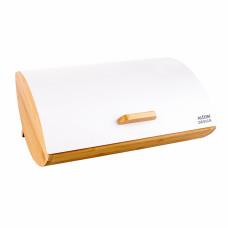 Bambusový chlebník Altom Desing Cosmic, biely