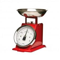 Kuchynská váha Retro Secret de Gourmet 5five 5125 červená
