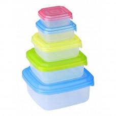 10-dielná sada dóz / úložné boxy s vrchnákmi, Renberg, farebná