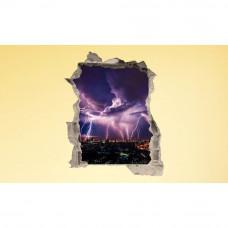 3D fototapeta, Búrka nad mestom, 100 x120cm
