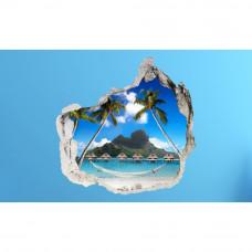 3D fototapeta, Bora Bora, 100 x100cm