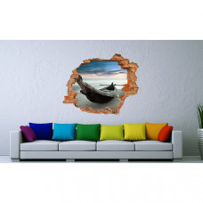 3D fototapeta, Loď na pláži, 125 x100cm