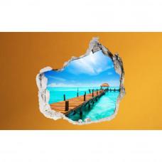 3D fototapeta, Laguna, 100 x100cm