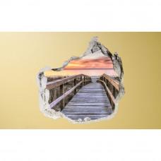 3D fototapeta, Na pláž, 100 x100cm
