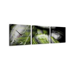3-dielny obraz s hodinami, Natur, 35x105cm