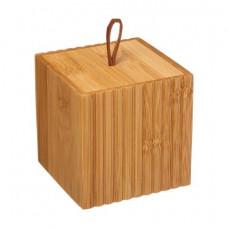 Bambusový zásobník na vatové tyčinky 5Five 4537, 9 cm