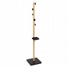 Drevený stojanový vešiak 5Five 7893, čierny