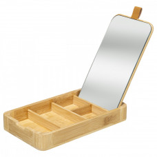 Bambusová krabička na šperky so zrkadlom 5Five 4663