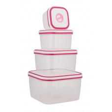8-dielna sada úložných boxov- 4 dózy s 4 vrchnákmi, Kinghoff