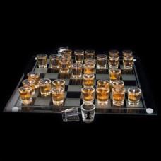 Alkoholové pohárikové šachy De Luxe 35cm