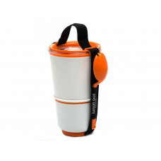 BLACK-BLUM Lunch Pot, biely / oranžový