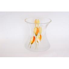 Váza zo skla tulipán 17cm