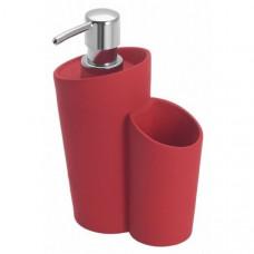 Dávkovač mydla Wenko, Soft, červený