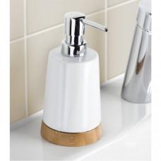 Dávkovač na mydlo z porcelánu a bambus