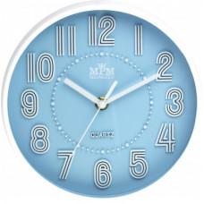 Detské nástenné hodiny MPM, 3228.30 - modrá, 20cm