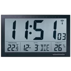 Digitálne nástenné DCF hodiny 664 s teplomerom a vlhkomerom 37cm
