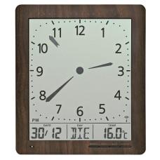 Digitálne nástenné hodiny 5893 AMS riadené rádiovým signálom 24cm