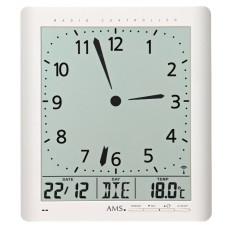Digitálne nástenné aj stolové hodiny 5896 AMS riadené rádiovým signálom