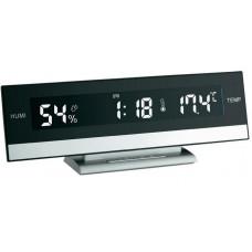 Digitálne stolové hodiny s teplomerom / vlhkomerom TFA 602011, 2