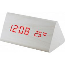 Digitálny LED budík MPM s dátumom a teplomerom C02.3570.00 RED