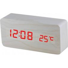 Digitálny LED budík MPM s dátumom a teplomerom C02.3564.00 RED