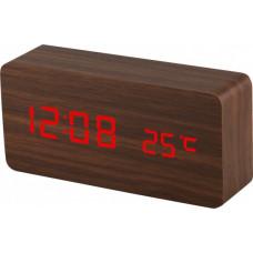 Digitálny LED budík MPM s dátumom a teplomerom C02.3564.50 RED