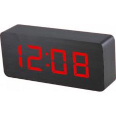 Digitálny LED budík MPM s dátumom a teplomerom C02.3565.90 RED,