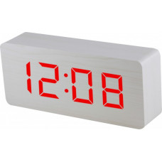 Digitálny LED budík MPM s dátumom a teplomerom C02.3565.00 RED,