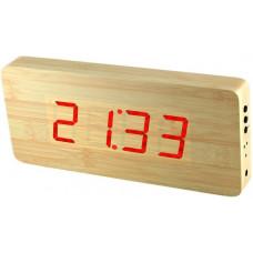 Digitálny LED budík/ hodiny MPM s dátumom a teplomerom 3672.51,