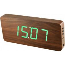 Digitálny LED budík/ hodiny MPM s dátumom a teplomerom 3672.50G