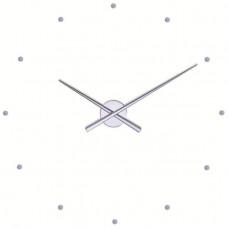 NOMON OJ dizajnové nástenné hodiny strieborné 50cm