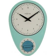 Dizajnové nástenné hodiny 3097bl Nextime Hans 28cm