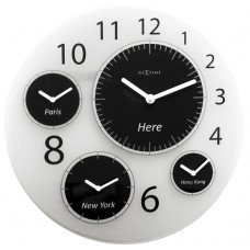 Dizajnové nástenné hodiny 3101 Nextime Big World 52cm