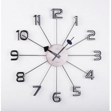 Dizajnové nástenné hodiny JVD HT072.1, antracit, 49cm