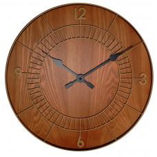 Dizajnové nástenné hodiny 3113br Nextime Wood Round 50cm