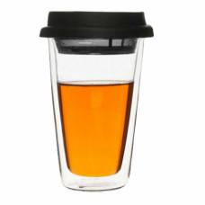 Dvojstenný termošálek s čajovým sitkom SAGAFORM Clear, 250ml