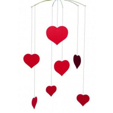 Happy Hearts Mobile 40x25cm