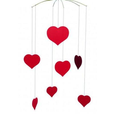Happy Hearts Mobile 40x25cm