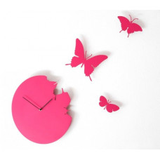 Hodiny Diamantini & Domeniconi Butterfly magenta 40cm
