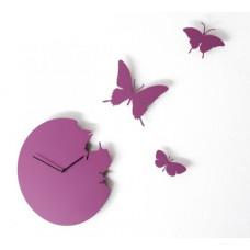 Hodiny Diamantini & Domeniconi Butterfly violet 40cm