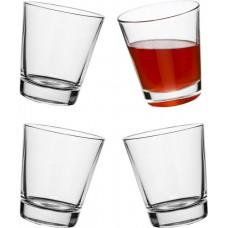 Hojdacie poháre SAGAFORM Rocking Multipurpose Glass, 4ks, číre