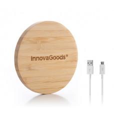 Bambusová bezdrôtová nabíjačka InnovaGoods 3115 pre Android a IOS