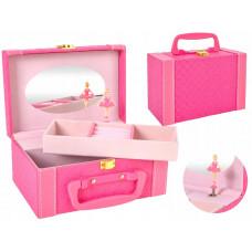 Detská hudobná šperkovnica s baletkou Iso 8538, ružová