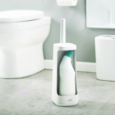 Flexibilná WC kefa s úložným priestorom Joseph Joseph Flex Plus 70539, biela/biela