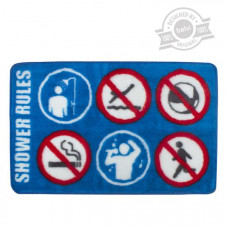 Kúpeľňová predložka Balvi Shower Rules