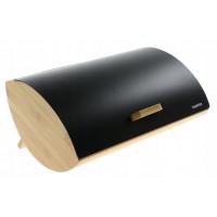 Bambusový chlebník KonigHOFFER Cosmic, čierny