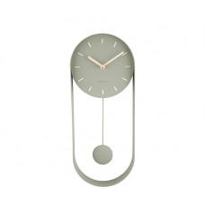 Dizajnové kyvadlové nástenné hodiny 5822DG Karlsson Charm, 50 cm