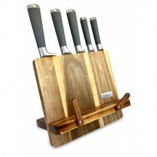 Blok na nože z agátového dreva so stojanom na knihu Kassel 93306