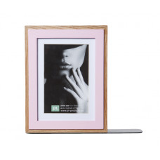 Knižná zarážka Present Time, fotorámik, Pink