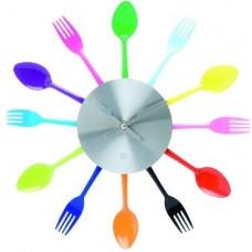 Kuchynské nástenné hodiny Príbor farebné 36cm